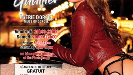 Don't miss your last chance to meet with the beautiful Cléa Gaultier who is featured at Salon de l'amour et de la Séduction tonight & Saturday 8-10pm....